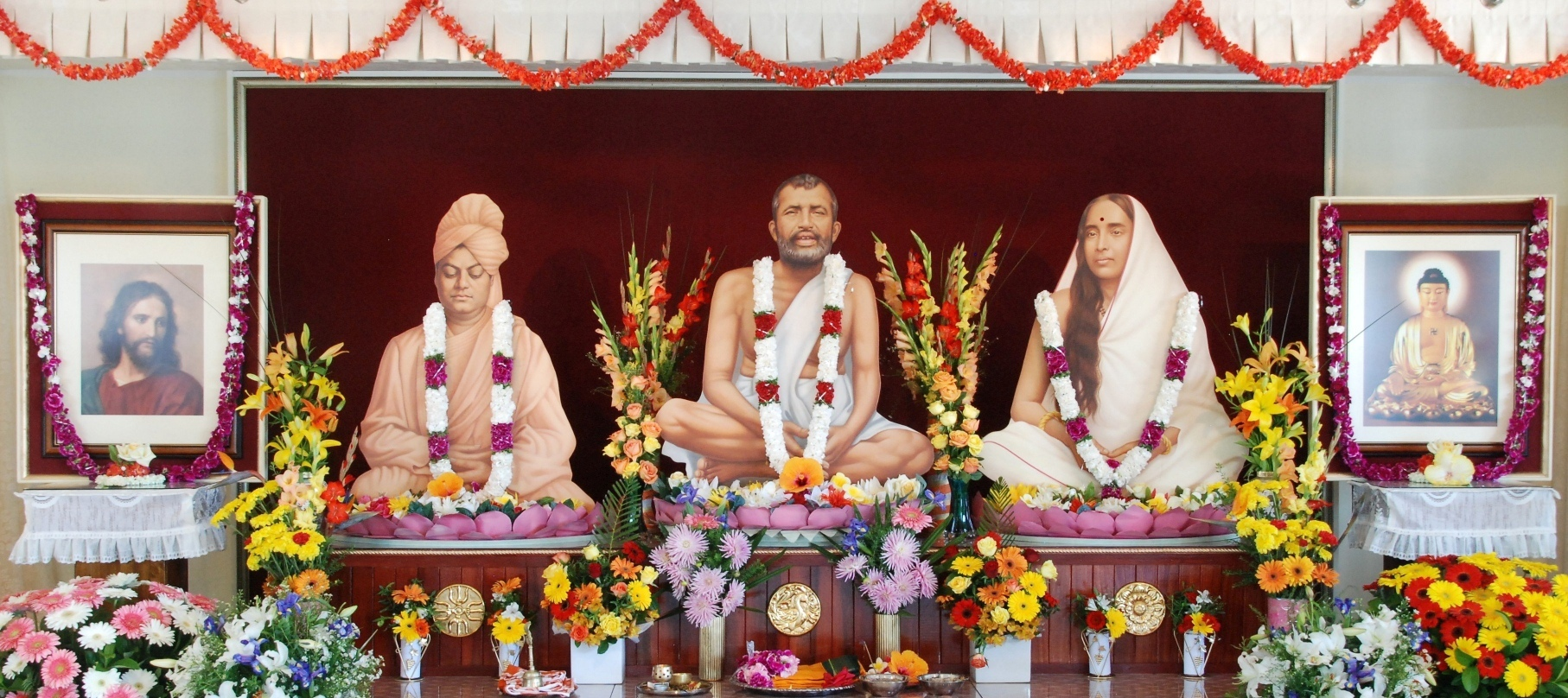Sri Ramakrishna, Holy Mother, Swamiji, Jesus and Buddha